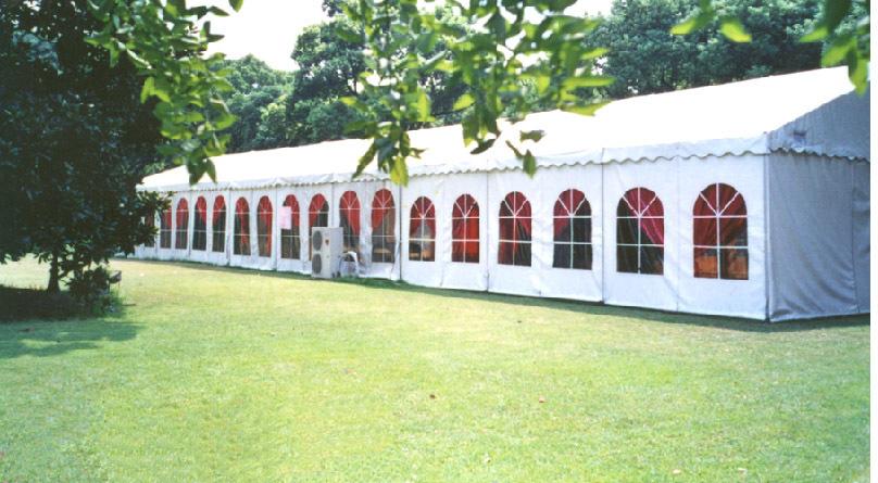 Wedding arch tent width 20 met ...