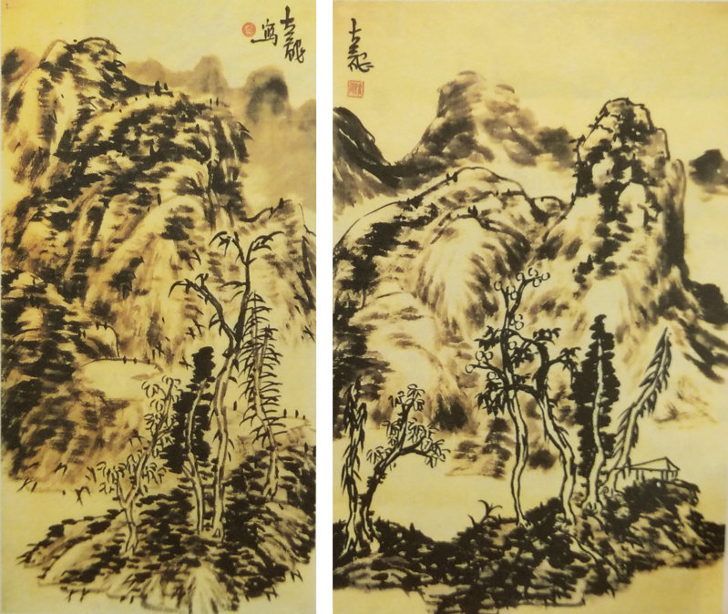 山水画临摹方法与山水画临摹步骤图