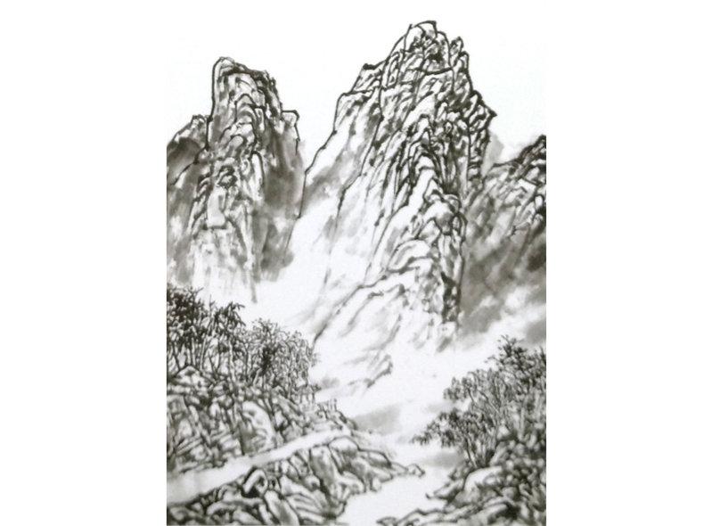 中国山水画技法以高远法