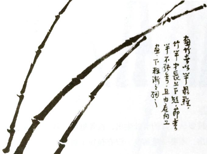 国画竹子的画法-竹竿画法
