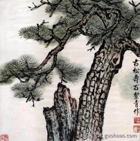 松树怎么画的作品-1