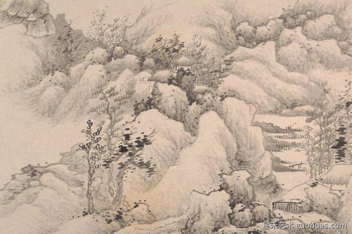 龚贤《自藏山水册》