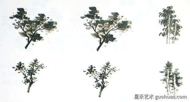 树叶的画法-大混点和小混点