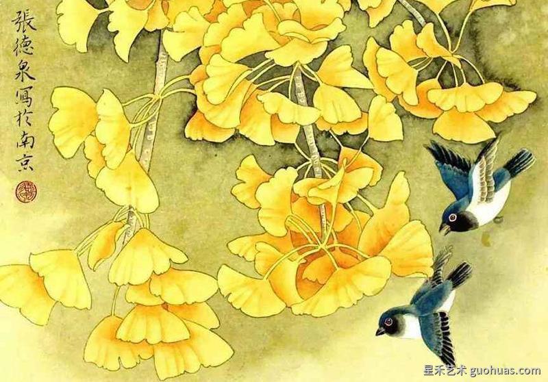 银杏树的画法作品案例2