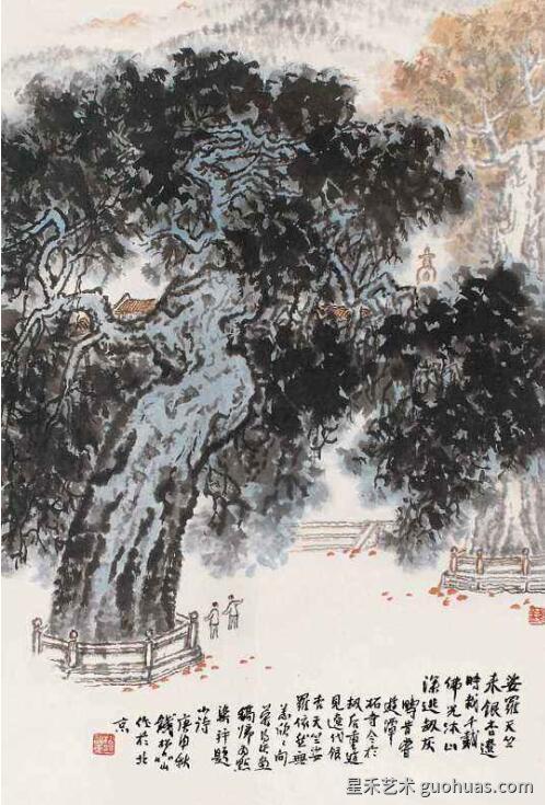 银杏树的画法作品案例5