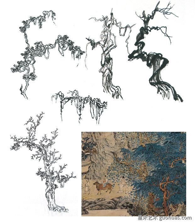 藤蔓植物的画法