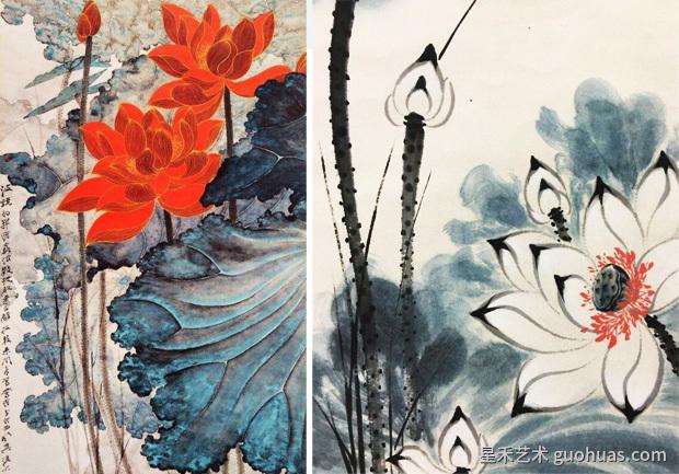 中国画写意荷花画作品欣赏