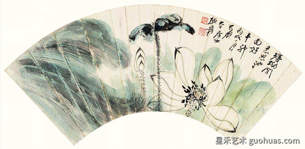 大师的中国画工笔荷花画作品