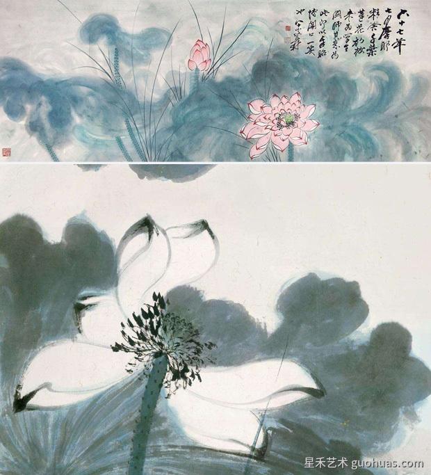 写意中国画荷花瓣的画法-02