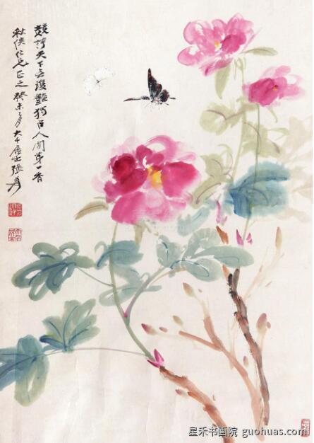 写意水墨画牡丹的几种画法