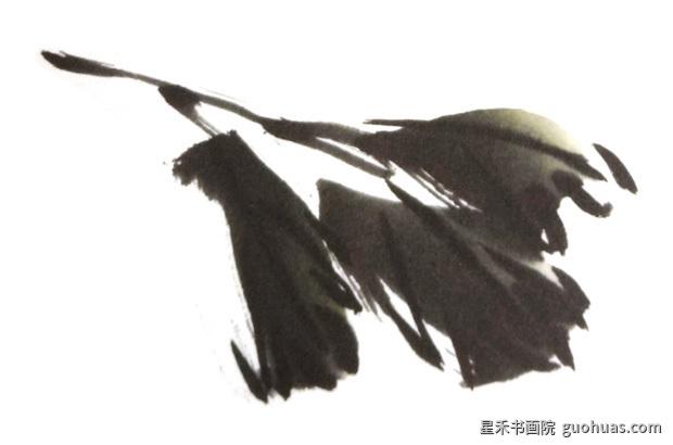 写意水墨画牡丹叶子的基本画法