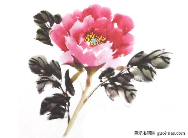 写意中国画牡丹画花朵的基本画法
