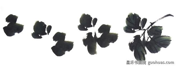 写意中国画牡丹画的嫩叶写意画法