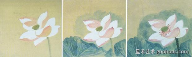 中国画工笔荷花画