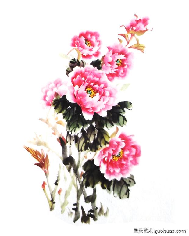 水墨画牡丹绘画技法