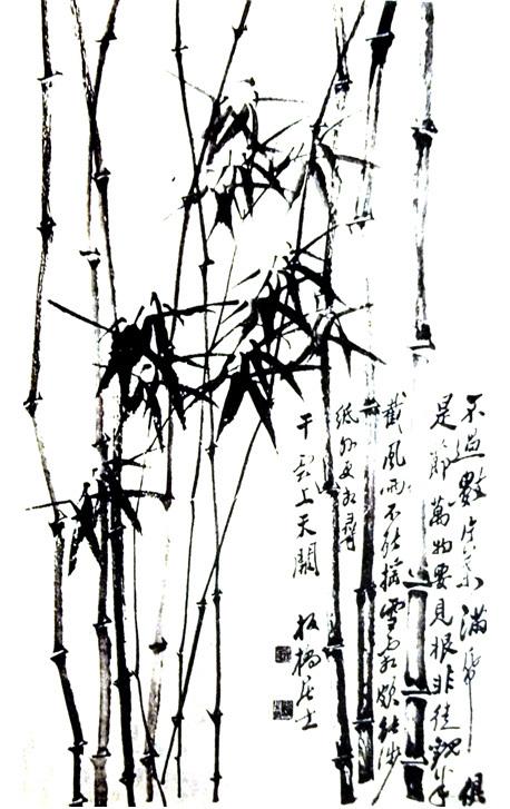 竹子的画法-1