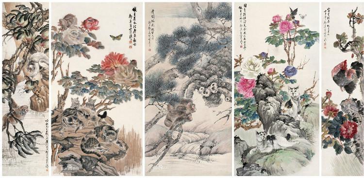 花鸟画画家张聿光作品