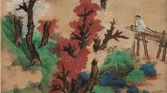 历代名家山水画技法高清图例白云红树图