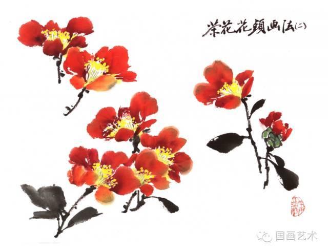 怎么画茶花之花头的画法1
