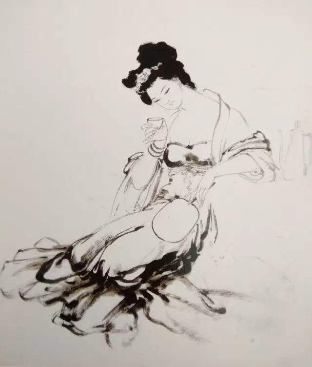 《贵妃醉饮图》画法和步骤-2