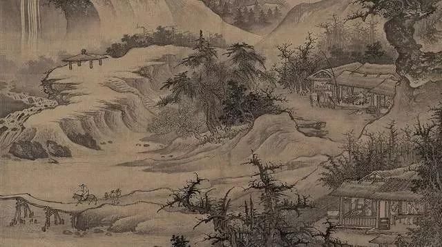 历代名家山水画技法高清图山庄高逸图