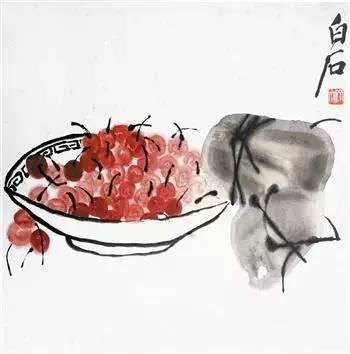 齐白石国画粽子画法-端午