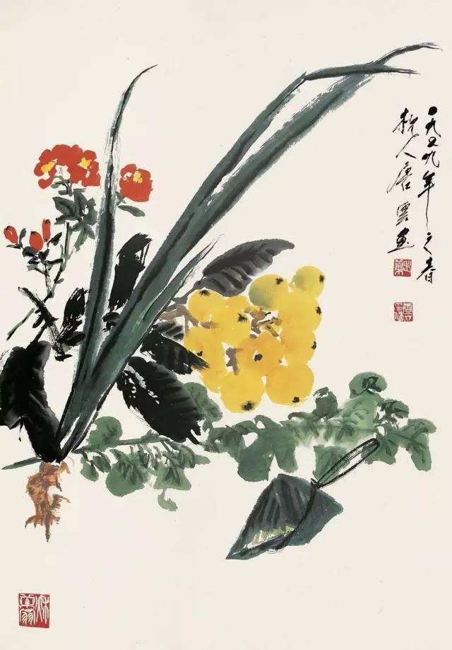 唐云国画粽子画法