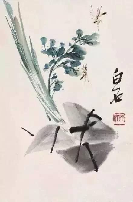 齐白石国画粽子画法