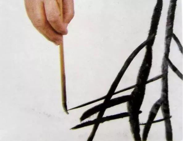 中国画技法之弹粉法3