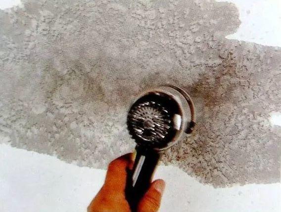 中国画技法之弹洗洁精法2