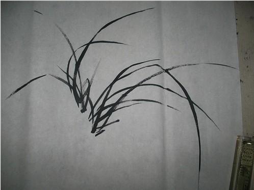 国画入门兰花的画法2