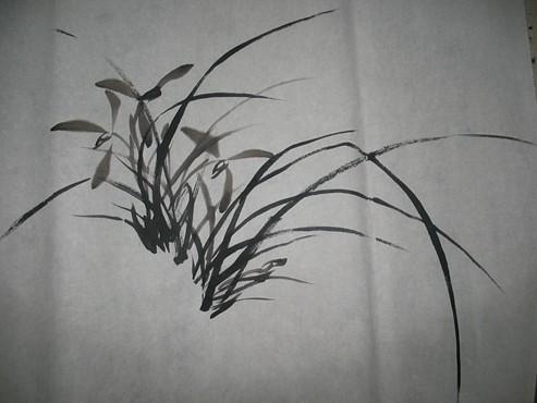 国画入门兰花的画法4