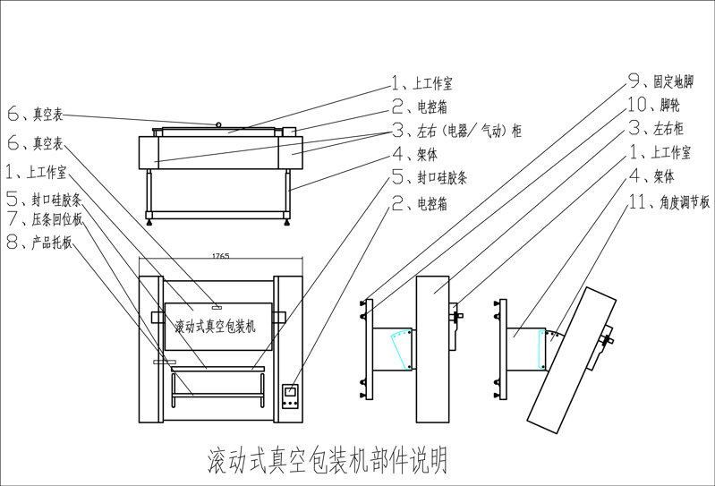 滚动包装机部件图