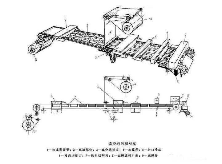 拉伸膜真空包装机结构图4