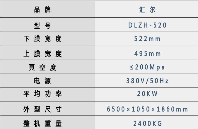 520雙面技術參數