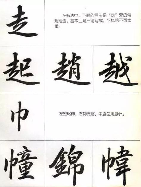 行楷字体示例图