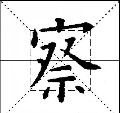 欧阳询九成宫结体三十六法(19—21)