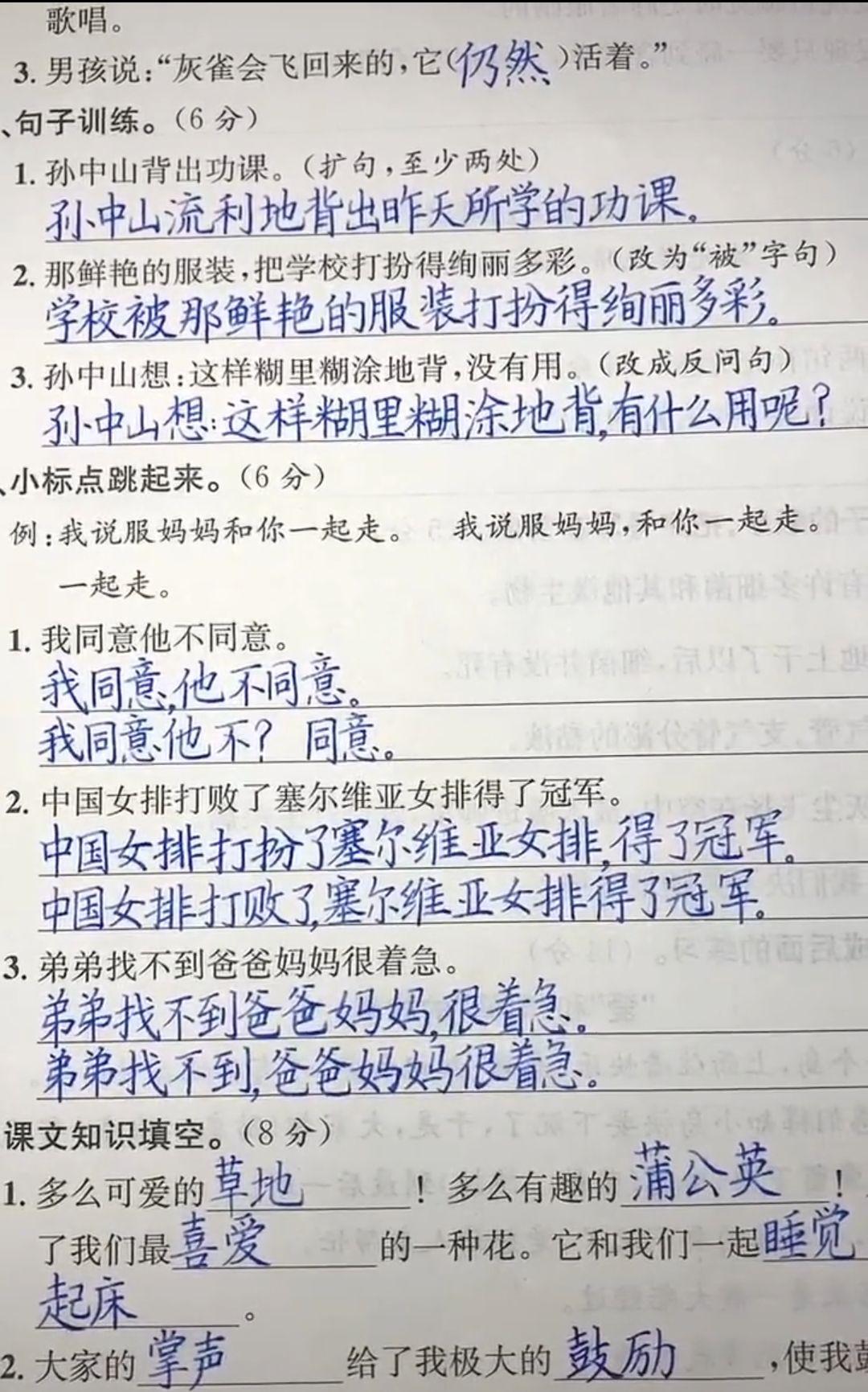 """8岁小男孩""""神仙字迹""""小学生钢笔字作品欣赏"""