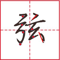 左偏旁,马字偏旁、子字偏旁、 弓字偏旁怎么写好看?