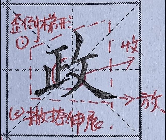钢笔字帖楷书入门写法