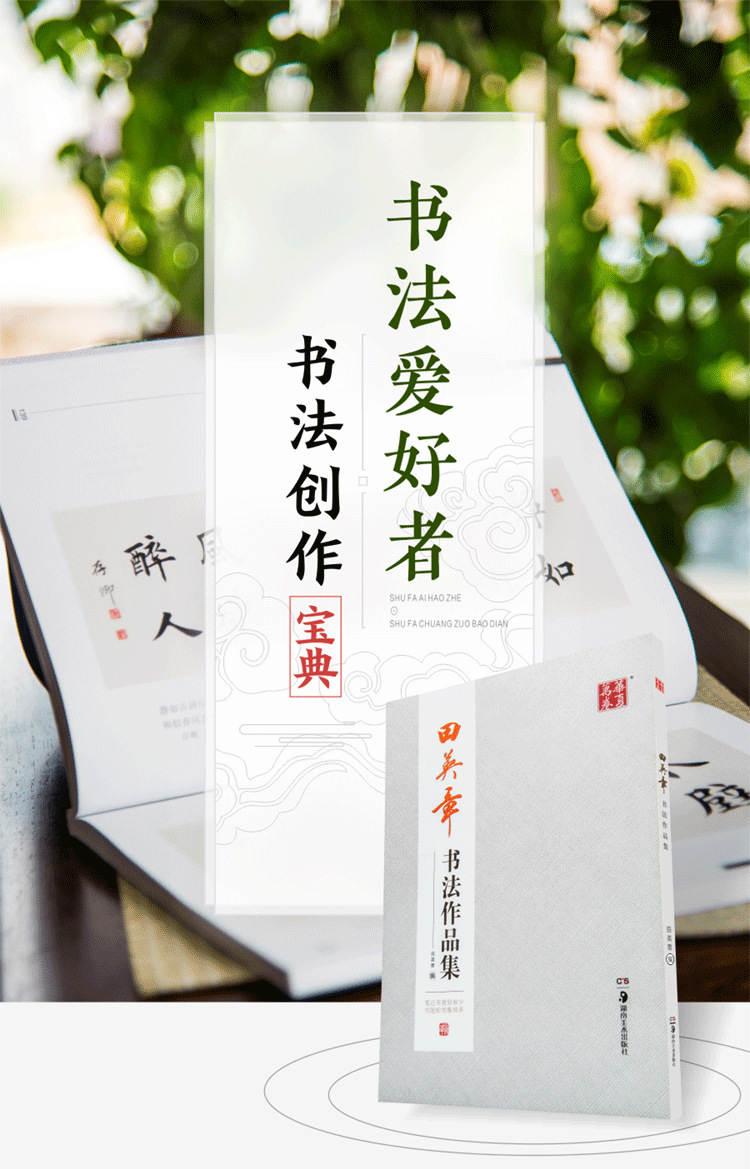 田英章书法作品集毛笔字帖,专业毛笔爱好者类字典字帖