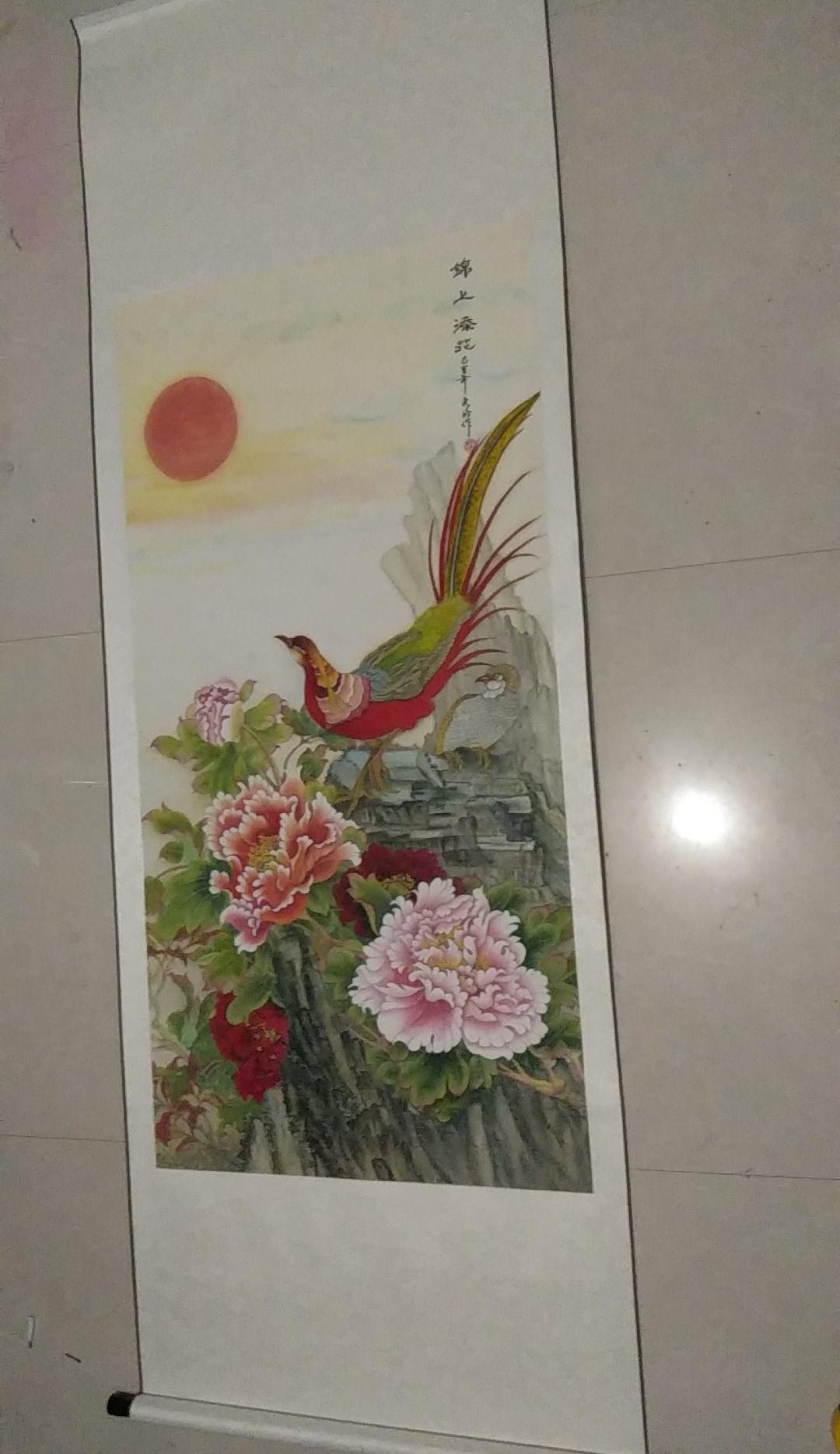 宋秀灵花鸟画作品《锦上添花》