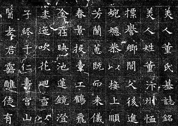 书法在线欣赏蜀王杨秀《董美人墓志》