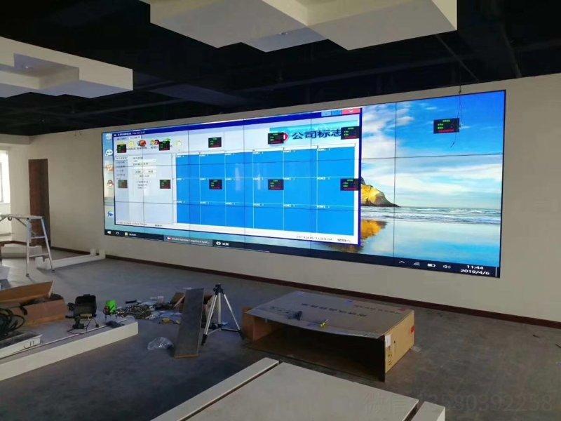 广州55寸18.mm 3x6大屏拼接工程安装完成