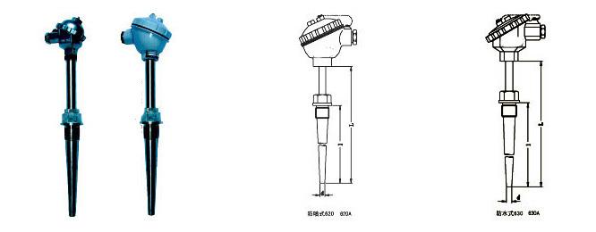 固定螺纹锥形式热电偶