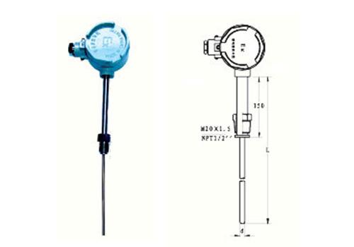 活动螺纹管接头式防爆热电偶