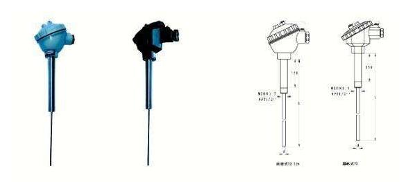 直形管接头式热电阻