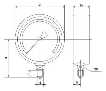 膜盒压力表1