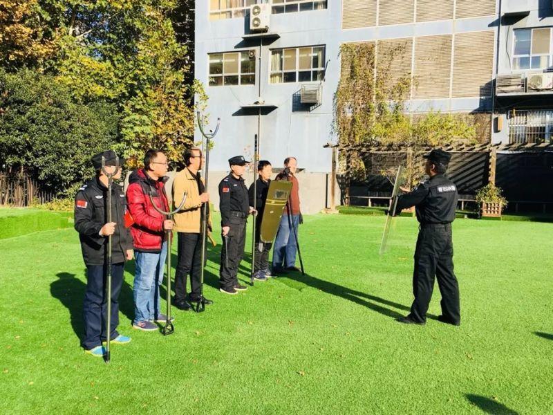 幼儿园安保器械实操演练培训