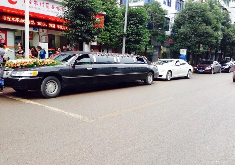 """哈尔滨租车-成功婚车--""""加长林肯+玛莎拉蒂车队"""" 圆满顺利结束"""